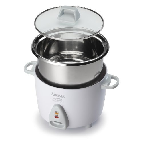 Aroma Simply Stainless 3-Cup Rice Cooker