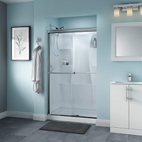 Delta Shower Doors SD3276445 Linden 48 x 70 Semi-Frameless Traditional Sliding Shower Door