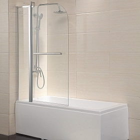 Mecor Shower Door Hinged Frameless 1 - 4 Clear Glass Bathtub Door