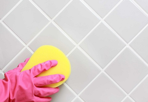 Shower Grout Scrubbing