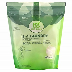 Grab Green Naturally-Derived, Laundry Detergent