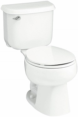 STERLING 402078-0 Windham 14-Inch Round-in Round Front Toilet