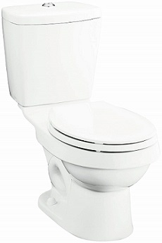 Sterling 402025-0 Karsten 12-Inch  Rough-in Round Front Toilet
