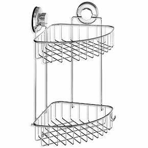 HASKO Accessories Suction Cup Corner Shower Caddy