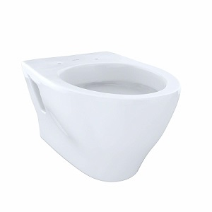 TOTO CT418F#01 Aquia Wall-Hung Dual-Flush Toilet