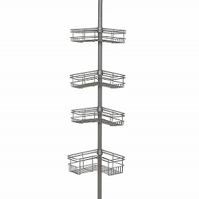 Zenna Home 2130NN Tension Corner Pole Caddy