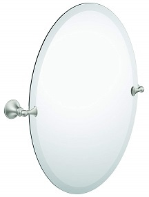 Moen DN2692BN Glenshire Bathroom Oval Tilting Mirror