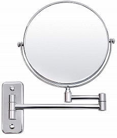 SONGMICS 8'' Two-Sided Wall Mount Makeup Mirror